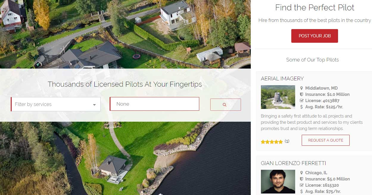 Drone-Pilot-Network-screenshot