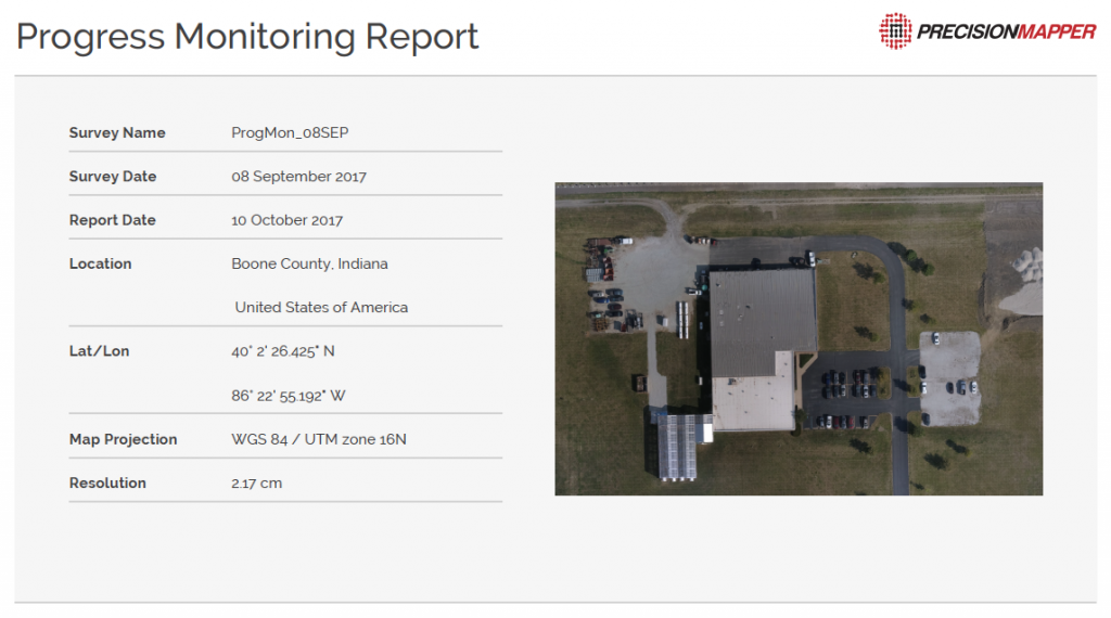 PrecisionHawk's Progress Monitoring Algortihm