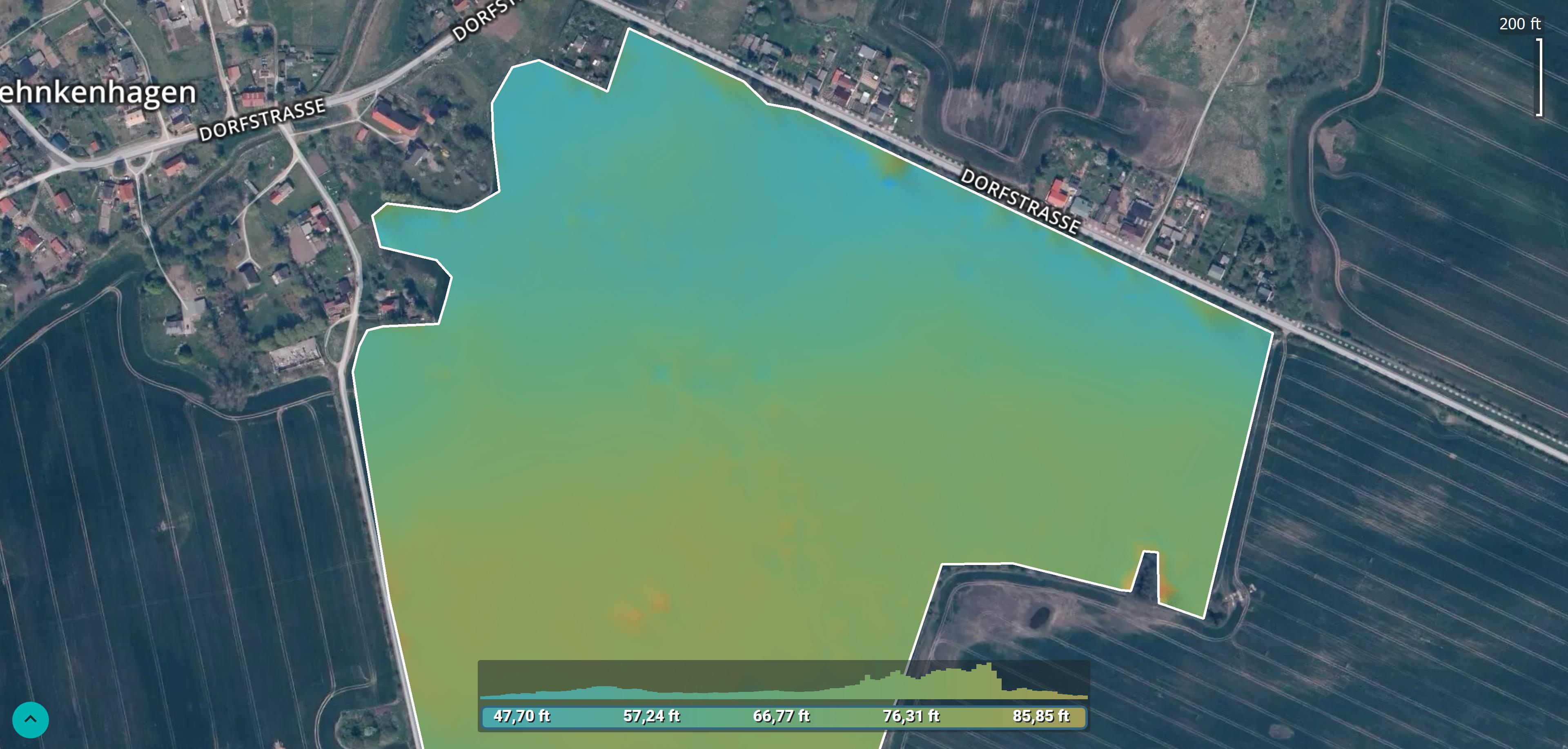 Pix4Dfields 1.4 DSM map